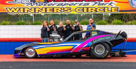 The Peak Winner Trophy goes to the New Generation Racing team and driver Robin Stambaugh-Schoeman. Photo by Carl Skillman